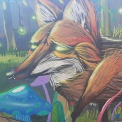 Painel mural, Floresta magica.. A Illustration, Fine Art, Street Art, and Botanical illustration project by Diogo Gomes da Silva - 04.22.2021