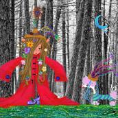 N° 1- ...an Elf?. A Illustration project by Elektra Domitila - 22.04.2021
