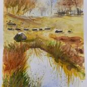 My project in  Natural Landscapes in Watercolor course. Un progetto di Direzione artistica , e Brush painting di koutna.marianna - 22.04.2021