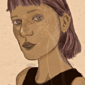 My project in Illustrated Portraits with Procreate course. A Portrait illustration project by Linda Ekvall - 04.23.2021