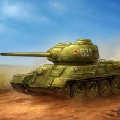 T-34/85. A Illustration project by Rubén Megido - 04.22.2021