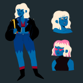 Polly Blue & Charong. Um projeto de Design de personagens e Concept Art de Elena Serrato - 23.04.2021