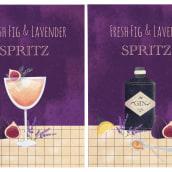 Cocktail cards✨. Un proyecto de Diseño, Ilustración y Caligrafía de Alina Zimina - 20.03.2021