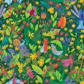 Jitterbug. A Illustration, Collage, Musterdesign, Kreativität und Textile Illustration project by lynkalogirou - 24.04.2021