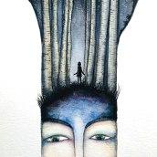 En mi mente... un bosque. Un proyecto de Ilustración de Iana perez nollet - 02.06.2020