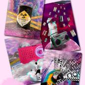 Radio | Postales. A Design, Graphic Design, Collage, and Digital Design project by Valeria Salvador - 04.25.2021