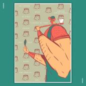 """El Leñador"". A Plakatdesign project by graphic.design.emii - 25.04.2021"