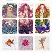 Portfolio de ilustración en Instagram. Un progetto di Illustrazione, Design Pattern e Instagram di PlastikQueen - 12.03.2021
