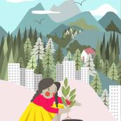 La ciudad que me imagino. Un projet de Illustration de Carla Soliz Cronenbold - 09.04.2021