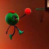 Olimpic Games - basketball. Un proyecto de Diseño, 3D y Diseño de personajes de Dan Cristian - 25.04.2021