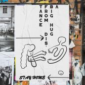 A big hug from distance - Stay sane, stay home.. Un proyecto de Diseño de carteles e Ilustración digital de Aida Hadid - 03.05.2020