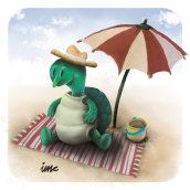 De vacaciones!!!. Um projeto de Ilustração digital e Ilustração infantil de Isaac Martin Castro - 30.04.2021