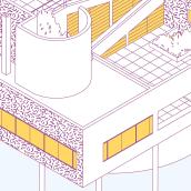 Iconic houses. A Design, Illustration, Architecture, Graphic Design, Infographics, Vector Illustration, Creativit, Poster Design, Digital illustration, and Architectural illustration project by Javier Martín Sanz de Bremond - 11.06.2020