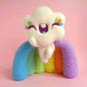 Super Duper Rainbow Cloud. A Character Design, Crafts, Fine Art, Sculpture, Art To, and s project by droolwool - 04.29.2021