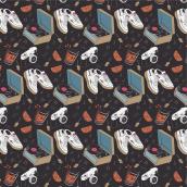 Modern/Retro Pattern. A Illustration, Pattern Design, Vector Illustration, Digital illustration, and Textile illustration project by Javier Martín Sanz de Bremond - 09.15.2020
