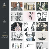 Mi Proyecto del curso: Claves para crear un porfolio de ilustración profesional. Un proyecto de Ilustración, Ilustración digital e Ilustración de retrato de Olalla Ruiz - 05.05.2021