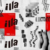 Escola Illa folder. Um projeto de Design, Fotografia, Design editorial, Design gráfico, Tipografia, Colagem e Pattern Design de Joan Romero Tarriño - 05.03.2020