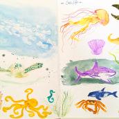 My project in Illustration Techniques to Unlock your Creativity course. Un progetto di Illustrazione di claudia.martinowski - 06.05.2021