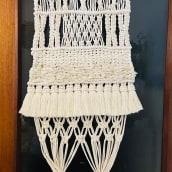 Mi Proyecto del curso: Introducción al macramé: creación de un tapiz decorativo. Un proyecto de Diseño, Artesanía, Diseño de interiores y Macramé de Veronica Osorio - 12.05.2021