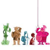 """Il mio progetto del corso: Fabbrica di personaggi illustrati """"GLADIATORI IMPROBABILI"""". Um projeto de Ilustração, Design de personagens, Ilustração digital, Ilustração infantil e Narrativa de Patrizia Leoni - 13.05.2021"""