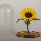 Girasol encapsulado. Um projeto de Ilustração, Artesanato, Papercraft, Decoração de interiores e Teoria da cor de Manuela Maya Rendón - 16.05.2021