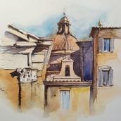 Rome, ink and watercolor painting. Un projet de Architecture, Beaux Arts, Pa, sagisme , et Peinture de Ekaterina Chistiakova - 18.05.2021