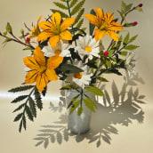 Mi Proyecto del curso: Diseño de flores realistas en papel. Um projeto de Papercraft, Decoração de interiores e DIY de Manuela Maya Rendón - 14.10.2021
