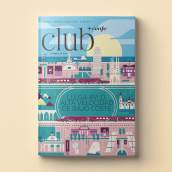 PORTADA CLUB RENFE. A Illustration, Advertising, and Editorial Design project by Del Hambre - 05.19.2021