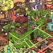 Labirinto. Um projeto de Ilustração, Ilustração vetorial e Ilustração digital de Gabriel Alipio - 09.05.2019
