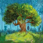 Milo, Sarah et Micky et la cabane dans les bois. Un proyecto de Ilustración de edith.dmt - 20.05.2021