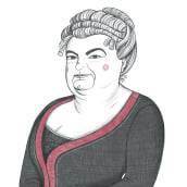 Emilia Pardo Bazán. Un proyecto de Ilustración, Dibujo, Ilustración de retrato y Dibujo de Retrato de Olalla Ruiz - 12.05.2021