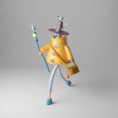 El Mago. A Illustration, 3D, 3d modeling, 3D Character Design, and Design 3D project by Enrique Escalona - 05.23.2021