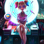Harley Quinn. A 3D, and 3D Character Design project by Fer Aguilera Reyes - 05.25.2021