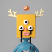 Música para mis ojos. A Illustration, 3D, 3d modeling, 3D Character Design, and Design 3D project by Enrique Escalona - 07.04.2020