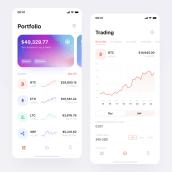 Bitcoin UX/UI. Un proyecto de UI / UX de Jénnifer González - 28.05.2021