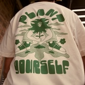 """""""Plant Yourself"""" Featured Illustrator T-Shirt for Everpress. Um projeto de Ilustração, Design gráfico, Serigrafia e Desenho tipográfico de tynancollins - 25.03.2021"""