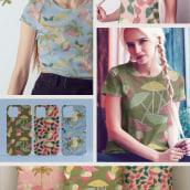 Mi Proyecto del curso: Creación de marca basada en tus propios estampados. Um projeto de Ilustração, Br, ing e Identidade, Design gráfico, Pattern Design, Design de moda e Ilustração têxtil de Raquel Ares - 28.05.2021