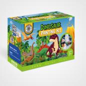 Packaging - Kit de Pintura de Dinosaurios. Um projeto de Design, Publicidade, Design gráfico e Packaging de Jesica Luz Novarese - 23.06.2020