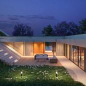Green Line House | make_hb. Um projeto de 3D, Arquitetura, Modelagem 3D, Arquitetura digital, 3D Design e Visualização arquitetônica de Federico Hernández Barrón - 21.05.2021