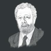 Luis García Berlanga. Un proyecto de Ilustración, Cine, vídeo, televisión, Ilustración de retrato, Dibujo de Retrato e Illustración editorial de Olalla Ruiz - 21.05.2021