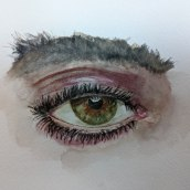 Watercolour eye study. A Watercolor Painting project by Maddy Edgington - 06.03.2021