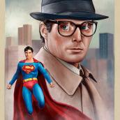 Clark Kent. Um projeto de Ilustração e Ilustração digital de Oscar Martinez - 06.04.2021
