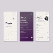 Zogia - The daily Horoscope. Un proyecto de UI / UX de Jénnifer González - 07.06.2021