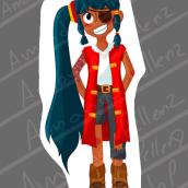 Meu projeto do curso: Design de personagens para animação com Photoshop. A Animation, Character Design, and Character animation project by Amanda pellenz - 06.08.2021