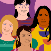 THIRTY PORTRAITS OF WOMEN WORKING AT AWS. A Illustration project by Aurélia Durand - 06.09.2021