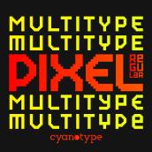 MultiType Pixel Regular (FREE FONT). Un progetto di Design tipografico , e Tipografia di Damián Guerrero Cortés - 10.06.2021