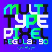 MultiType Pixel Regular SC. Un progetto di Tipografia , e Design tipografico di Damián Guerrero Cortés - 10.06.2021