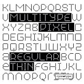 MultiType Pixel Regular Thin. Un progetto di Tipografia , e Design tipografico di Damián Guerrero Cortés - 10.06.2021
