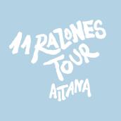 Diseño cartel - 11 Razones Tour - AITANA. Um projeto de Design e Música e Áudio de Marta Pitarch - 01.06.2021