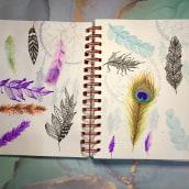 My project in Illustration Techniques to Unlock your Creativity course. Un projet de Design , Illustration, Beaux Arts, Peinture, Créativité, Créativité avec les enfants , et Carnet de croquis de Luisa Di Sarno - 07.04.2021